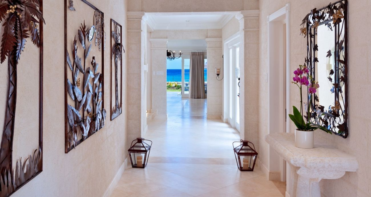 Foyer Entrance Zimbabwe : Still fathoms barbados luxury beach front villa